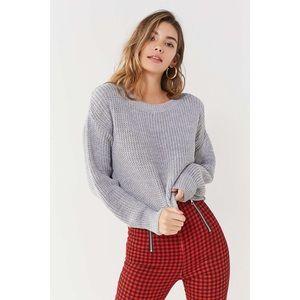 BDG Drop Sleeve Fisherman Gray Sweater Medium